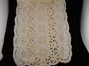 Picture of Vintage Cotton Cutwork Runner Accented with Flowers