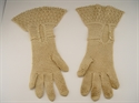 Picture of Beautifully Elegant Hand Crocheted Pair of Gloves in an Ecru Beige Color