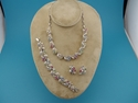 Picture of Lisner Set Rhinestone Necklace, Bracelet, Earrings
