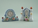 Picture of 2 Occupied Japan Mini Clock Figurines