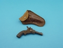 Picture of Small Cast Iron Toy Gun With Leather Holster