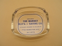 "Picture of Advertising ashtray  ""The Market Building & Savings Co."" Cincinnati, Ohio"