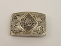 Picture of Vintage Sterling Silver Belt Buckle Featuring An Eagle Holding A Snake