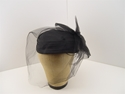 Picture of Vintage Basic Black Hat With Black Netting