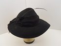 Picture of Vintage Stylish Black Hat With An Accent Feather