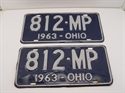 Picture of Pair Of Vintage 1963 Ohio License Plates