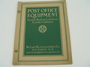 Picture of Vintage 1918 Catalog of Post Office Equipment