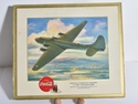 Picture of WWII Aircraft Coca Cola Cardboard Poster